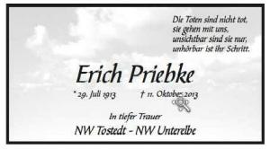 Anzeige Priebke Wochenblatt